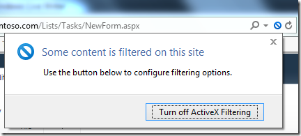 People Picker does not work when ActiveX Filtering is